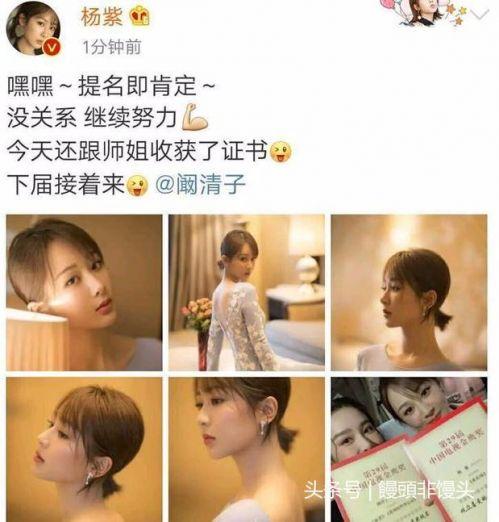 杨紫发文回应错失金鹰奖视后,如何评价杨紫的演技?